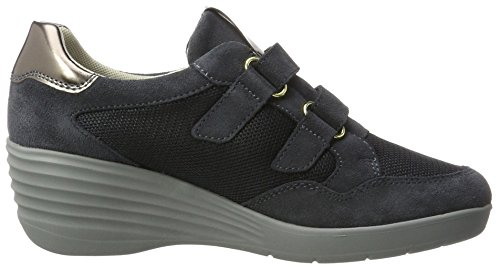 Stonefly Ebony 23, Sneakers Basses Femme Bleu (Denim 124)