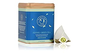 Dancing Leaf Fennel Green Tea Tin Filled with Great Taste (25 Tea Temples/Tea Bags)