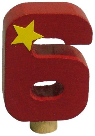 Niermann Standby 9616 - Geburtstag-Happy-Zahl 6, passend für alle Niermann Standby Dekoartikel