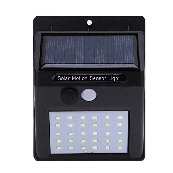 3KeysTM Solar Wireless Security Motion Sensor Night Light - 20 LEDs Bright and Waterproof for Outdoor/Garden Wall (20 LED) (1)