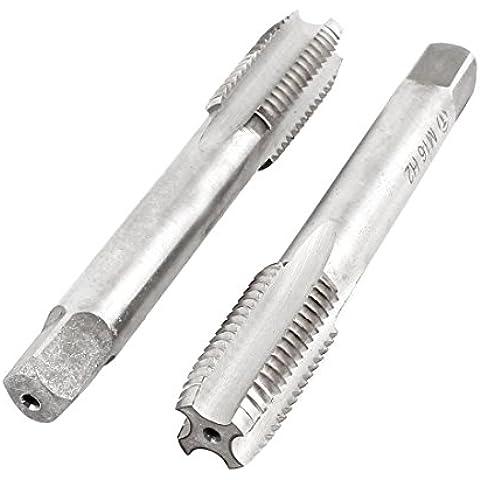 2 pezzi, M16 x 33 mm, confezione da 4 pezzi, in acciaio HSS, filettatura metrica Plug Taps
