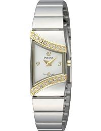Pulsar Uhren Avantgarde PEGG36X1 - Reloj analógico de cuarzo para mujer, correa de acero inoxidable color plateado