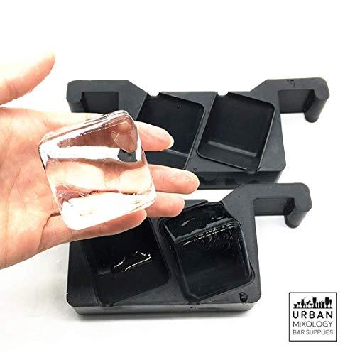 Kristallklare Ice Cube Maker Für die Home Barkeeper. Machen 2Perfekt klar, slow-melting 4,8cm Eiswürfel für Ihre Cocktails & Whiskys.