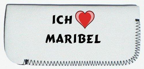 Brillenetui mit Ich liebe Maribel (Vorname/Zuname/Spitzname)