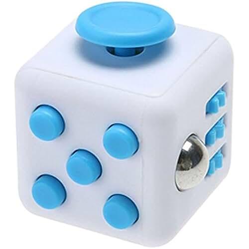 fidget spinner el nuevo juguete de moda Enjoy Juyi Fidget cubo Alivia el estrés y ansiedad para niños y adultos, azul