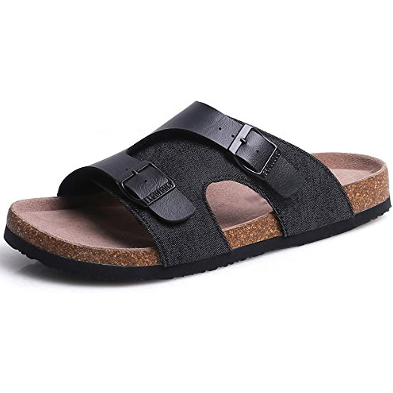Feifei Hommes Tissu Chaussures PU + Tissu Hommes Non-Slip Plage  s Décontractées (Couleur : Noir, Taille : EU39/UK6/CN39) - B07BHLR5RQ - 23a393