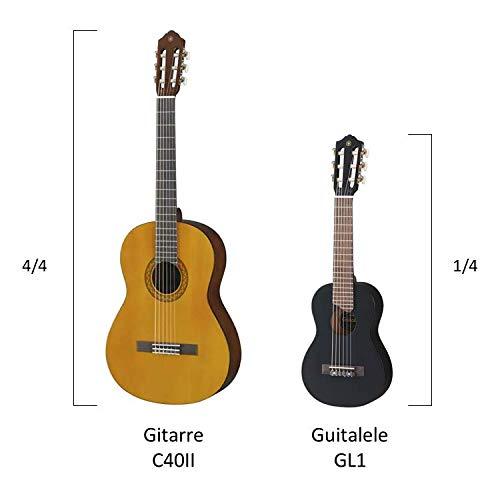 Yamaha GL1 BL Akustik Gitalele inkl. Gigbag schwarz - 2