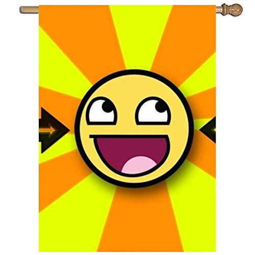 Meishikaeu Farbe Explosion Garten Flagge Bedruckt einseitig Home Flagge Wetter beständig durable-27X 94cm, Polyester, Yellow Smiley Face8, 27 inch X 37 inch