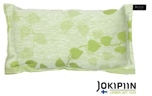 JOKIPIIN Sauna Kissen aus Leinen TUULI weiß/grün made in Finland