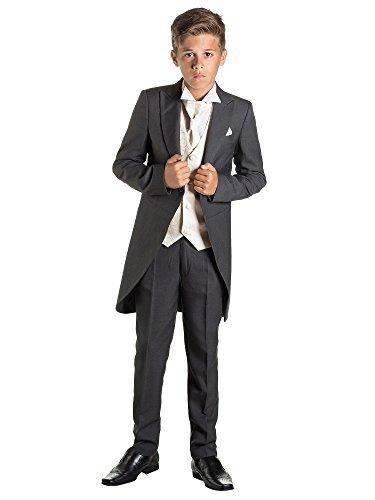 ungen Kostüm Frack, Jungen Habit, Seite Jungen folgt, 12–18M–13Jahre Gr. Für 13-Jährige, grau (Kostüm Für 12 Jährigen Jungen)