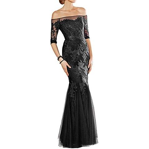 Toscana sposa Modern spalla pirrolidone Mermaid sera abito lungo Chiffon madre festa un'ampia ball abiti da sposa