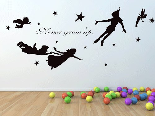 eber Vinyl Kinderzimmer Kinder Aufkleber Flying Tinkerbell Wendy Sterne Home House Baby Room Decor Wandtattoo Kid Wandbild 915 (Tinkerbell Wie Ein Baby)
