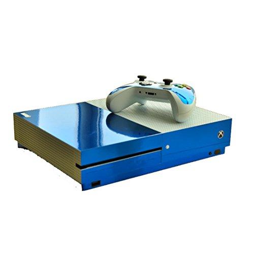 DOTBUY Xbox ONE S Design Folie Vinyl Aufkleber für Konsole + 2 Controller + Kamera Sticker Skin Set (Glossy Blue)