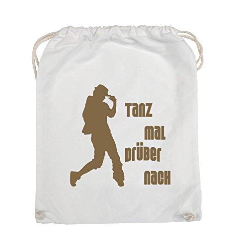 Comedy Bags - TANZ MAL DRÜBER NACH - FIGUR - Turnbeutel - 37x46cm - Farbe: Schwarz / Pink Weiss / Hellbraun