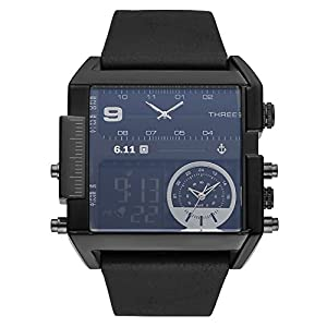 Snow Island Herren LED Digital Datum Alarm Wasserdicht Sport Militär Armee Quarz Armbanduhr