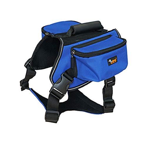 KBDSM Mochila del Animal doméstico Correa para el Pecho Perro Bolsa de Viaje al Aire Libre Correa de Perro Ropa Azul XL Cuello: Busto de 70-90cm 100-124cm 1pcs