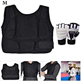 Fansport Taekwondo Brustschutz Sparring Body Protector Mit Kampfsporthandschuhen FüR Karate