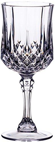 KitchenCraft Bar Craft'Unbreakable Acryl Weinglas, Transparent, 200ml