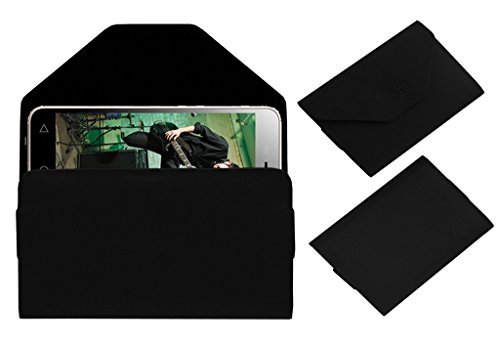 Acm Premium Pouch Case For Micromax Canvas Spark 3 Q385 Flip Flap Cover Black  available at amazon for Rs.179