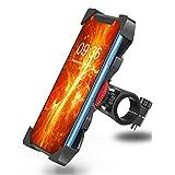 Telefoonhouder fiets anti-shake Bovon 360 ° rotatie universele fietshouder motorfiets stuur voor iPhone Xs max/Xr/X/8/7/6 Plus, Samsung Galaxy S10 Plus en alle mobiele telefoons van 3,5-6,5 inch