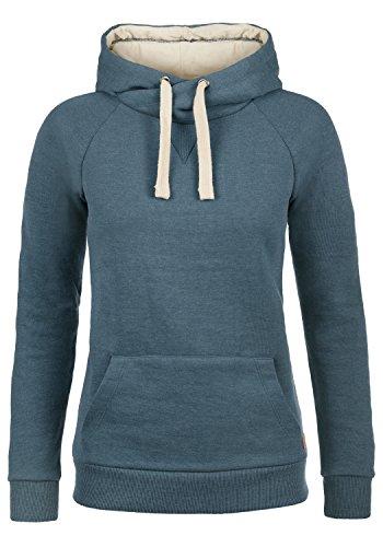 BlendShe Julia Damen Damen Hoodie Kapuzenpullover Pullover Mit Kapuze Und Cross-Over-Kragen, Größe:S, Farbe:Ensign Blue (70260) Frauen Hoodie