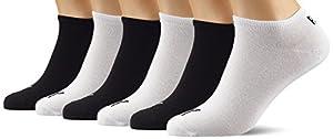 PUMA Unisex Sneaker Sport Socken Sportsocken Füsslinge 251025 im 6er Pack (3er weiß/3er schwarz, 39-42)