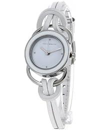 Ted Lapidus - A0285RAPF - Montre Femme - Quartz Analogique - Cadran - Bracelet Cuir Blanc