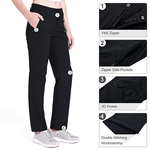 41JG5CI59GL. SS500  - CAMEL CROWN Hiking Pants Women Quick Dry Outdoor Cargo Pants Softshell Trouser with Zipper Pockets for Walking Casual Mountaineering