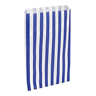 Counter bags, 7x 9Blue Candy Stripe Counter Bags, Pick N Mix Sweet Bag, Packs of 1000by APL Packaging