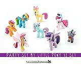 Kids Corner Productions® - Meine kleine Pony Party Tasche Set von 12 Mini Figuren, niedliche Figuren von Pinky Pie, Rainbow Dash, Seltenheit mit Spike und vieles mehr Magic Figures