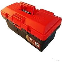 Cassetta degli attrezzi Caja de herramientas de plástico super doble caja de almacenamiento de piezas de caja de 15 pulgadas