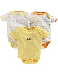 MINI BERRY 100% Cotton Baby Bodysuit -Pack of 3 (Unisex) Soft & Comfortable for Kids