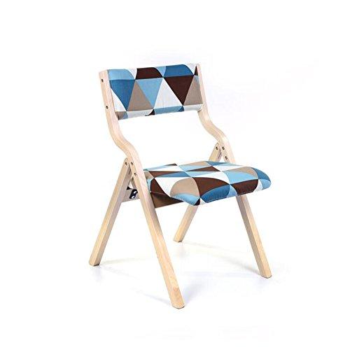Chaises pliantes CJC Chaise en Bois Chaise De Dossier Coussin Doux Tissu Chambre À Coucher Restaurant Cafe Chaise De Bureau (Couleur : 7)