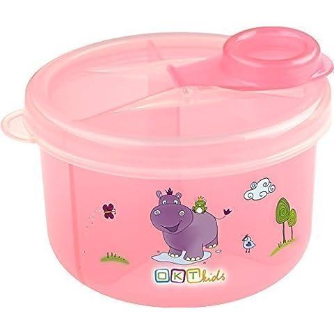 Latte polvere - dispenser scoop 3 cassetto scatola rosa ippopotamo