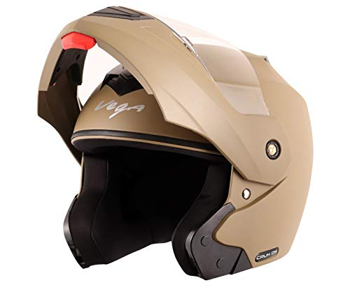 Vega Crux DX Flip-Up Helmet (Dull Desert Storm, Medium)