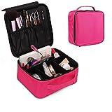 Kosmetikkoffer Reise-Make-up-Tasche - Premium - Vegetarisches Designer-Makeup-Bag für Damen - Mehr als 3 Kosmetiktaschen, Kosmetiktaschen oder Kosmetiktaschen (schwarz und rot optional) Make-up Kosmet