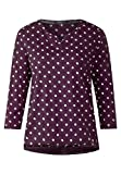 CECIL Damen Langarmshirt 312614 Joanna, Mehrfarbig (Deep Berry 21438), X-Large (Herstellergröße: XL)