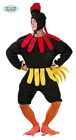 Hahn Kostüm für Erwachsene in Gr. M/L, Größe:L (Kostüm Express Für Erwachsene)