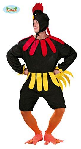 Hahn Kostüm für Erwachsene in Gr. M/L, - Kostüm Hahn