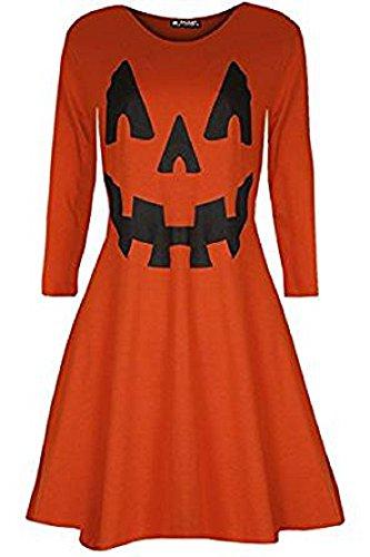Generic -  Vestito  - Donna Orange Pumpkin