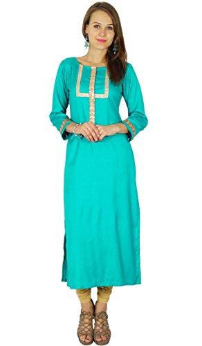 Phagun indischen Bollywood Designer Kurta Frauen Ethnische Kurti Lässige Tunika Kleid (Designer-tunika Damen)