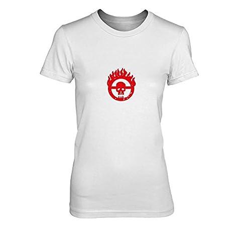 Mad Fury - Damen T-Shirt, Größe: XL, Farbe: weiß