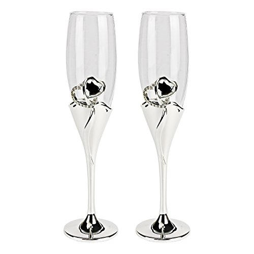sourcingmap® Da Sposa Abbrustolire Champagne Lustrini Flauti Occhiali 2 Pz