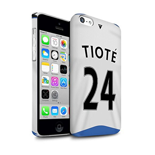 Offiziell Newcastle United FC Hülle / Glanz Snap-On Case für Apple iPhone 5C / Torwart Muster / NUFC Trikot Home 15/16 Kollektion Tioté