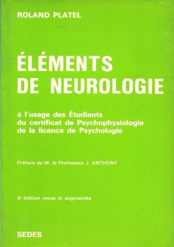 Eléments de neurologie