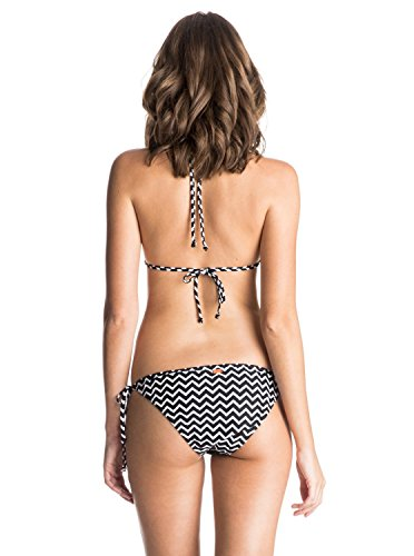 Roxy Damen Zigzag Bikini Set Schwarz - Black (Interweave Logo Combo True Bla)