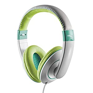 Trust Urban Sonin Kids Headphones, Ear Defenders, Built-In Volume Limitation - Grey/Green
