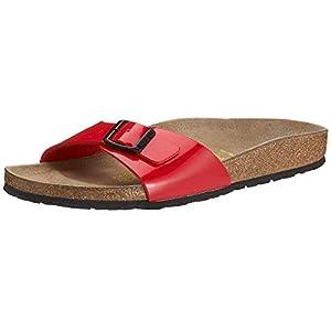 Birkenstock Madrid Unisex-Adults' Sandals Red (Tango Red Lack) - 4.5 UK