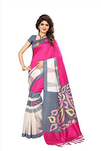 Flosive Women's silk Saree With Blouse Piece (KF-S181044 a_Free Size)