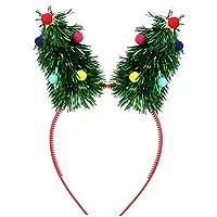 Toyvian 5pcs Accesorios para el Cabello para el niño del bebé del bebé de Las Vendas del Pelo de Navidad de la Venda del árbol de Navidad Cintas del día de Fiesta